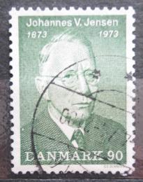 Poštovní známka Dánsko 1973 Johannes Vilhelm Jensen, spisovatel Mi# 540
