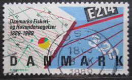 Poštovní známka Dánsko 1989 Výzkum moøe a ryb Mi# 955