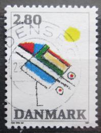 Poštovní známka Dánsko 1987 Moderní umìní Mi# 901