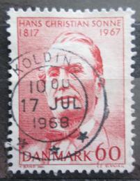 Poštovní známka Dánsko 1967 Hans Christian Sonne Mi# 464