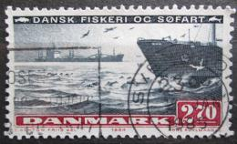 Poštovní známka Dánsko 1984 Nákladní loï Mi# 813