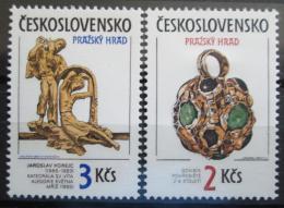Poštovní známky Èeskoslovensko 1986 Pražský hrad Mi# 2865-66