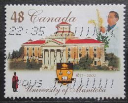 Poštovní známka Kanada 2002 Univerzita Manitoba, 125. výroèí Mi# 2041