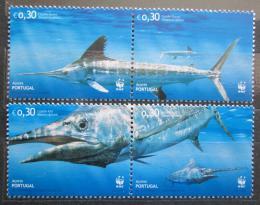 Poštovní známky Azory 2004 Merlín modrý, WWF Mi# 502-05