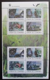 Poštovní známky Komory 2009 Netopýøi, WWF Mi# 2212-15 Bogen