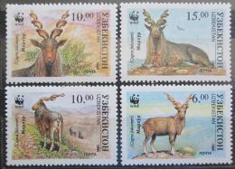 Poštovní známky Uzbekistán 1995 Kozorožec sibiøský, WWF Mi# 61-64 Kat 12€