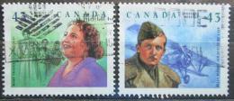 Poštovní známky Kanada 1994 Osobnosti Mi# 1439-40
