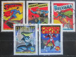 Poštovní známky Kanada 1995 Komiksové postavy Mi# 1515-19