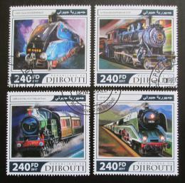 Poštovní známky Džibutsko 2017 Parní lokomotivy