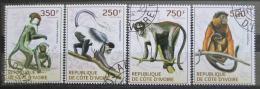 Poštovní známky Pobøeží Slonoviny 2014 Primáti Mi# 1614-17