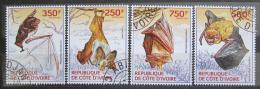 Poštovní známky Pobøeží Slonoviny 2014 Netopýøi Mi# 1569-72