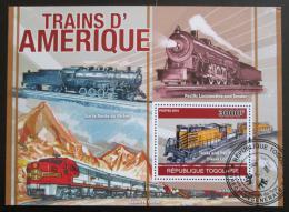 Poštovní známka Togo 2010 Americké lokomotivy Mi# Block 564 Kat 12€