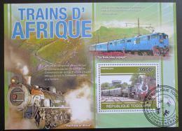 Poštovní známky Togo 2010 Africké lokomotivy Mi# Block 563 Kat 12€