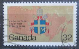 Poštovní známka Kanada 1984 Návštìva papeže Mi# 925