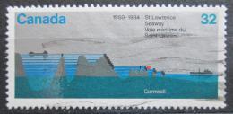 Poštovní známka Kanada 1984 Vodní cesta St. Lorenz Mi# 909