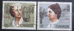 Poštovní známky Kanada 1985 Slavné ženy Mi# 946-47