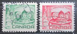Poštovní známky Kanada 1967 Vánoce Mi# 417-18