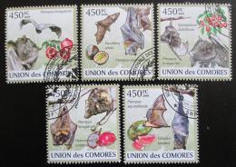 Poštovní známky Komory 2009 Netopýøi Mi# 2455-59 Kat 10€