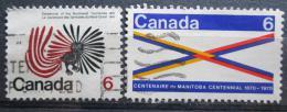 Poštovní známky Kanada 1970 Severozápadní teritorium, 100. výroèí Mi# 448-49