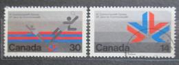 Poštovní známky Kanada 1978 Hry spoleèenství Mi# 685-86