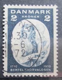 Poštovní známka Dánsko 1970 Bertel Thorvaldsen, sochaø Mi# 506