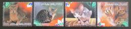 Poštovní známky Maledivy 2014 Domácí koèky Mi# 5405-08 Kat 10€