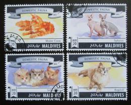 Poštovní známky Maledivy 2015 Domácí koèky Mi# 5810-13 Kat 10€