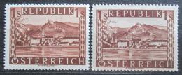 Poštovní známka Rakousko 1946 Dürnstein Mi# 767 I + II