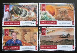 Poštovní známky Maledivy 2016 Prùzkum Marsu Mi# 6170-73