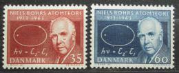 Poštovní známky Dánsko 1963 Niels Bohr, atomový fyzik Mi# 417-18