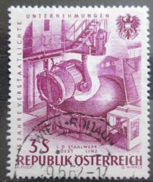 Poštovní známka Rakousko 1961 Znárodnìný prùmysl Mi# 1095