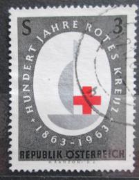 Poštovní známka Rakousko 1963 Mezinárodní èervený køíž, 100. výroèí Mi# 1135