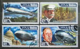 Poštovní známky Maledivy 2014 Vzducholodì Mi# 5370-73 Kat 11€