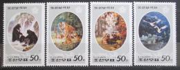 Poštovní známky KLDR 1998 Umìní, fauna Mi# 3998-4001