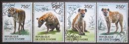 Poštovní známky Pobøeží Slonoviny 2014 Hyeny Mi# 1589-92