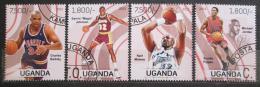 Poštovní známky Uganda 2013 Basketbaloví hráèi Mi# 3085-88 Kat 22€