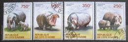 Poštovní známky Pobøeží Slonoviny 2014 Hroši Mi# 1604-07