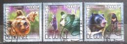 Poštovní známky Guinea 2014 Medvìdi Mi# 10375-77 Kat 18€