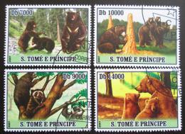 Poštovní známky Svatý Tomáš 2007 Medvìdi Mi# 3040-43