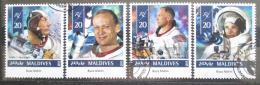 Poštovní známky Maledivy 2015 Buzz Aldrin Mi# 5739-42