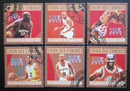 Poštovní známky Komory 2010 Basketbalové hvìzdy Mi# 2859-64