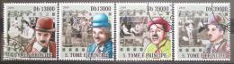 Poštovní známky Svatý Tomáš 2009 Charlie Chaplin Mi# 4053-56
