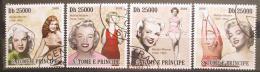 Poštovní známky Svatý Tomáš 2009 Marilyn Monroe Mi# 4216-19