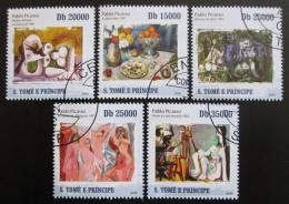 Poštovní známky Svatý Tomáš 2009 Umìní, Picasso Mi# 4281-85 Kat 12€
