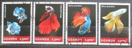 Poštovní známky Uganda 2014 Ryby Mi# 3275-78 Kat 12€