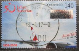Poštovní známka Rakousko 2008 Austrian Airlines, 50. výroèí Mi# 2718