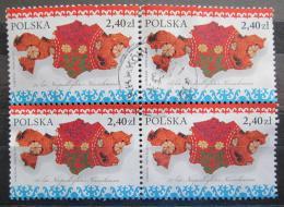 Poštovní známky Polsko 2011 Nezávislost Kazachstánu, 20. výroèí ètyøblok Mi# 4545