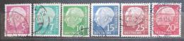 Poštovní známky Nìmecko 1960 Prezident Heuss Mi# 179-86 y Kat 240€