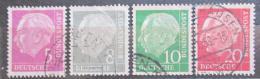 Poštovní známky Nìmecko 1954 Prezident Heuss Mi# 179,182-83,185 xY Kat 153€