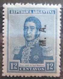 Poštovní známka Argentina 1922 Jose de San Martin pøetisk SC# OD19